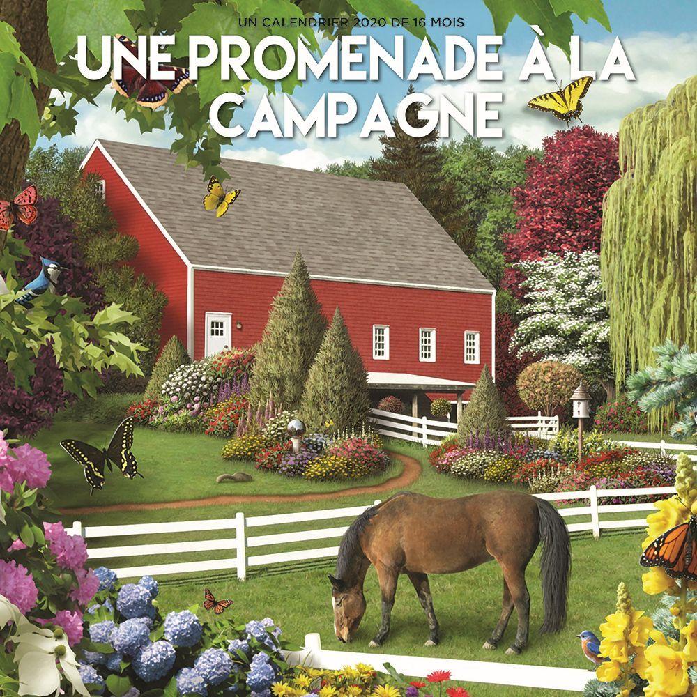 2021 Une promenade Hopper Wall Calendar (French)