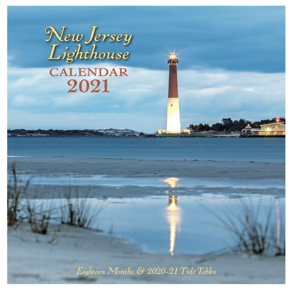 2021 New Jersey Lighthouse Wall Calendar