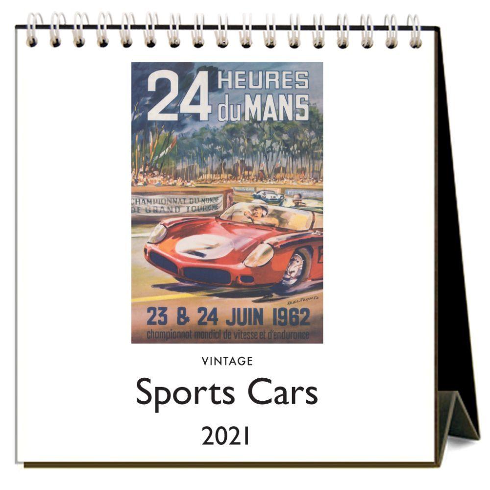 2021 Sports Cars Easel Calendar
