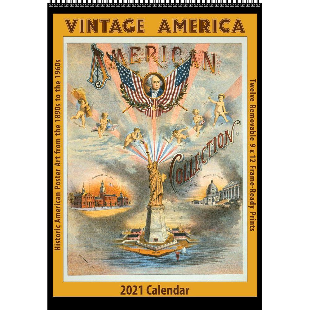 2021 America Vintage Poster Wall Calendar
