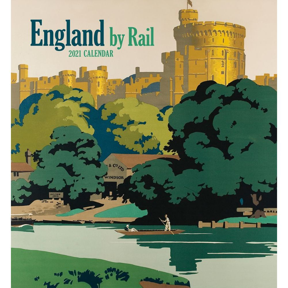 2021 England by Rail Wall Calendar