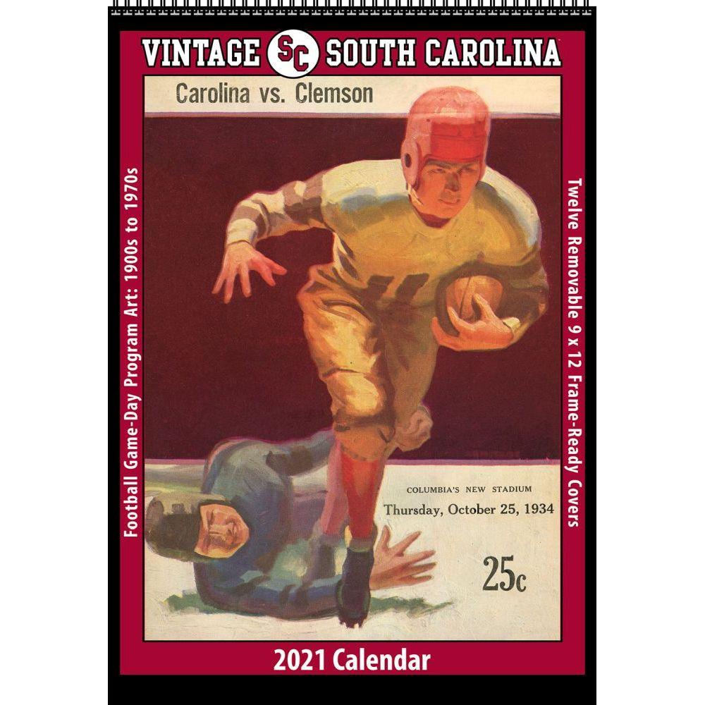 Vintage South Carolina Gamecocks Football 2021 Poster Calendar
