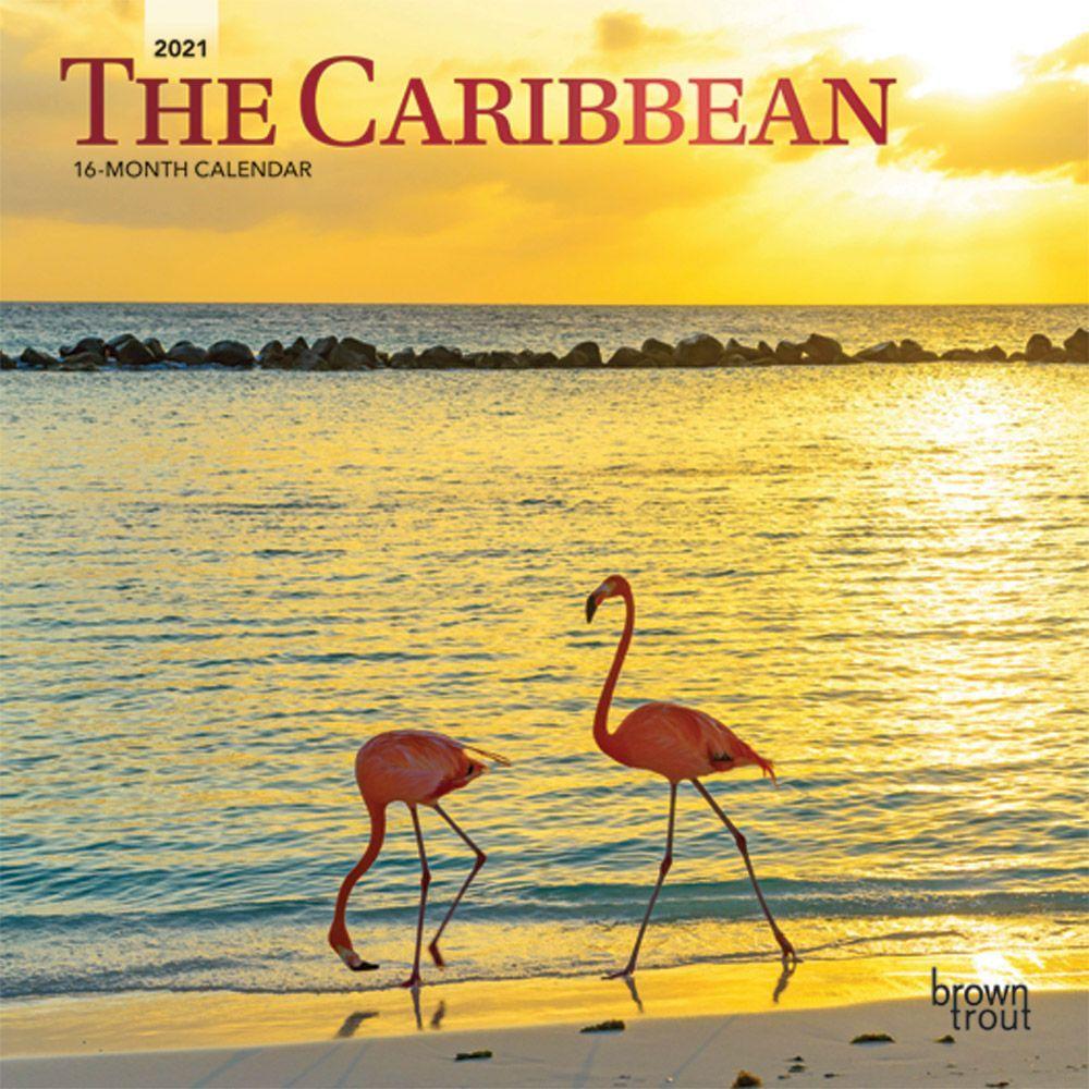 2021 Caribbean Mini Wall Calendar
