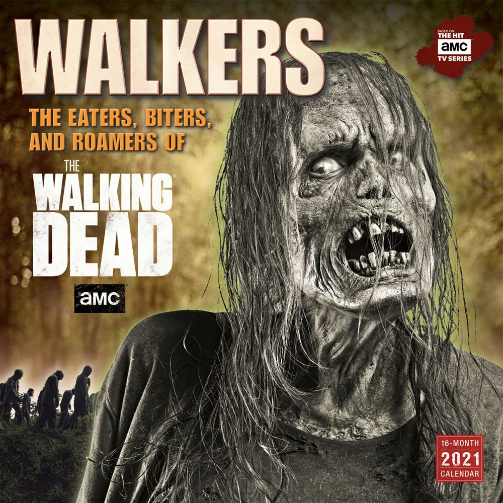 2021 Walking Dead Walkers Wall Calendar