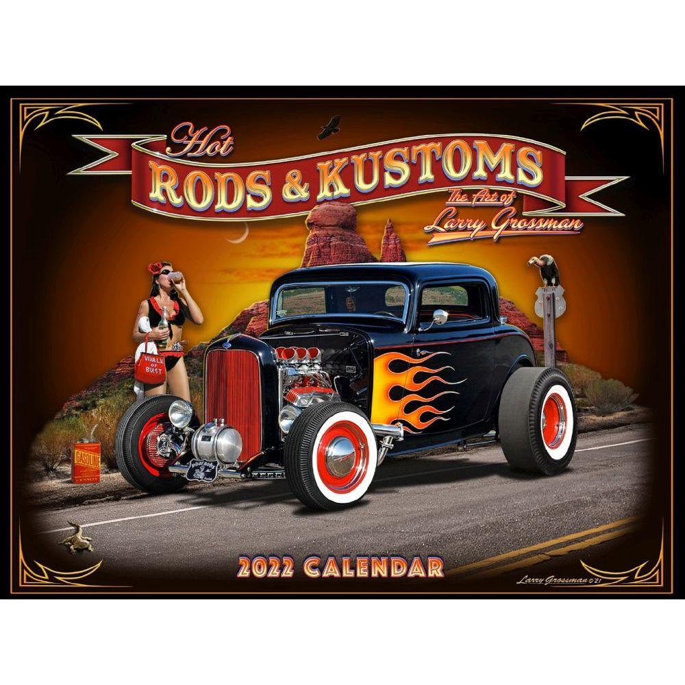 Hot Rods Grossman Art 2022 Wall Calendar