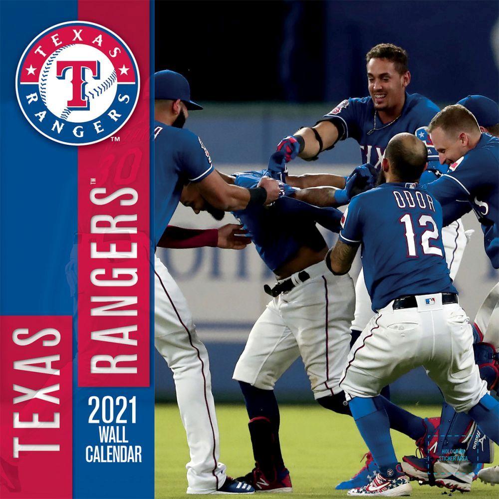 Texas Rangers 2021 Wall Calendar