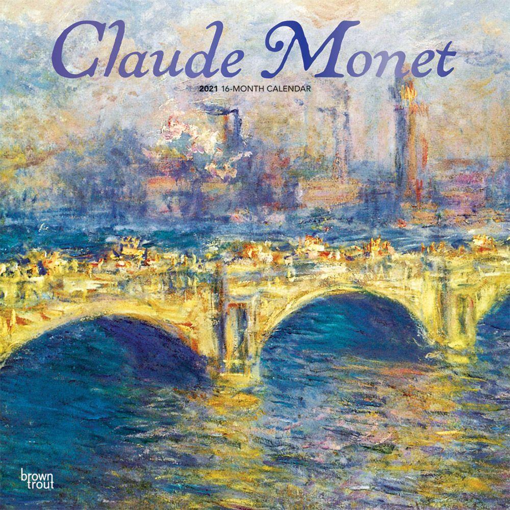 Claude Monet 2021 Poster Calendar