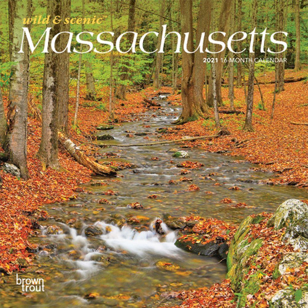 Massachusetts 2021 Mini Wall Calendar