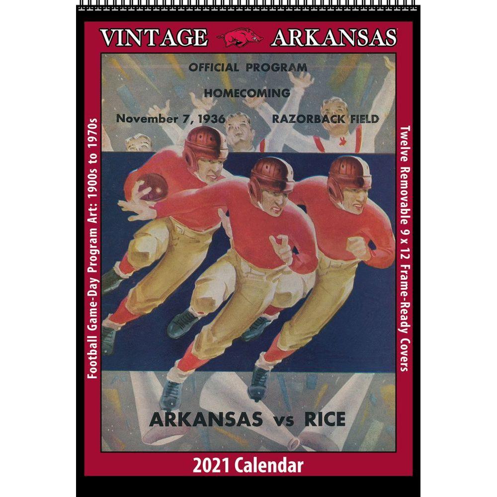 Vintage Arkansas Football 2021 Poster Calendar