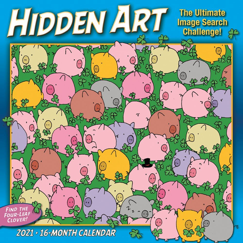 2021 Hidden Art The Ultimate Image Search Wall Calendar