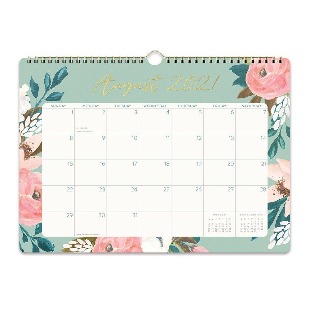 Bella Flora Spiral 2022 Deluxe Wall Calendar
