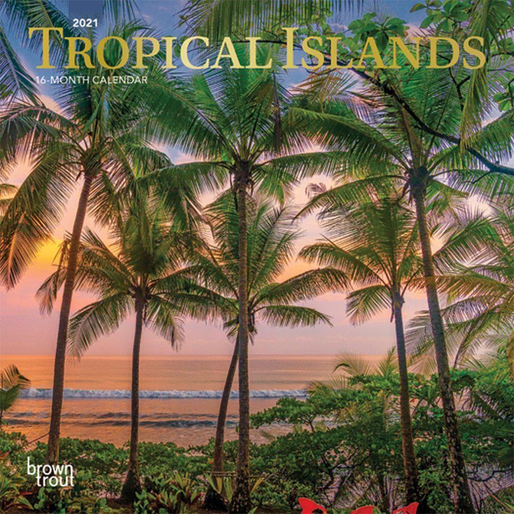 2021 Tropical Islands Mini Wall Calendar