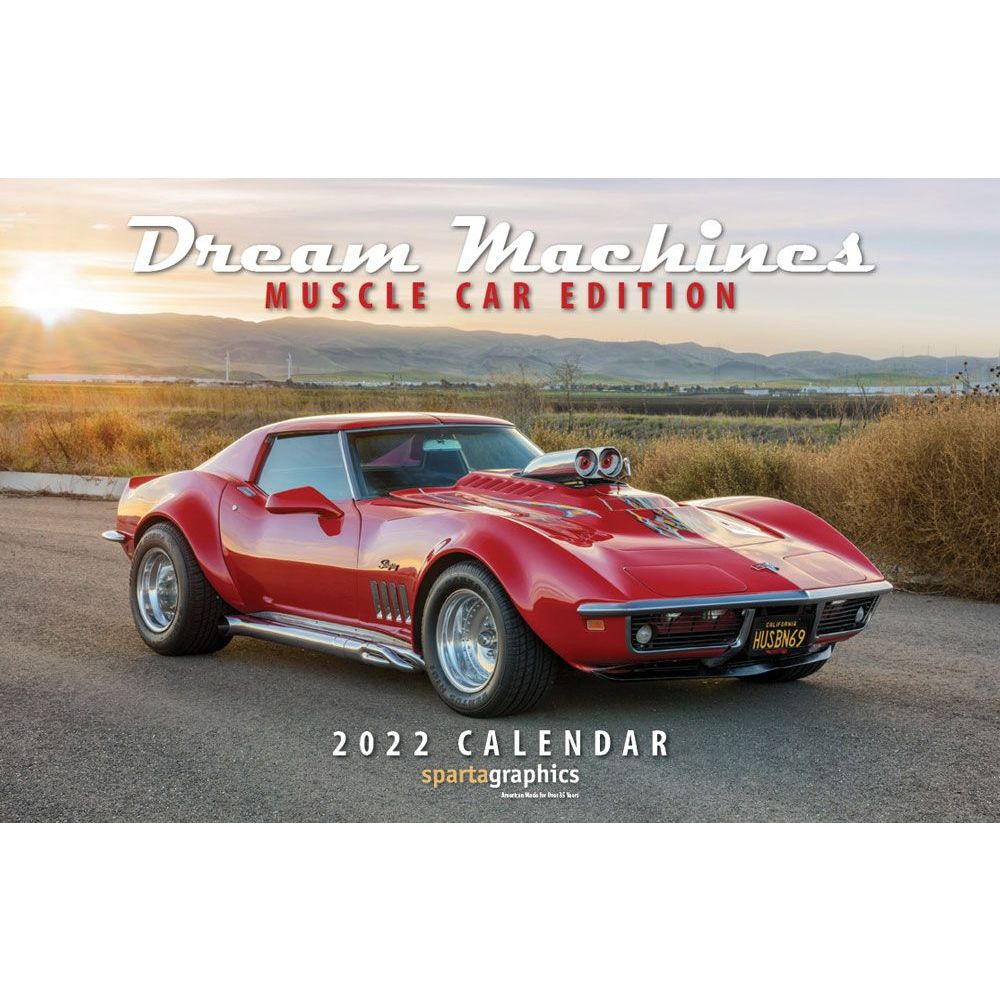 Dream Machines Muscle Car 2022 Deluxe Wall Calendar