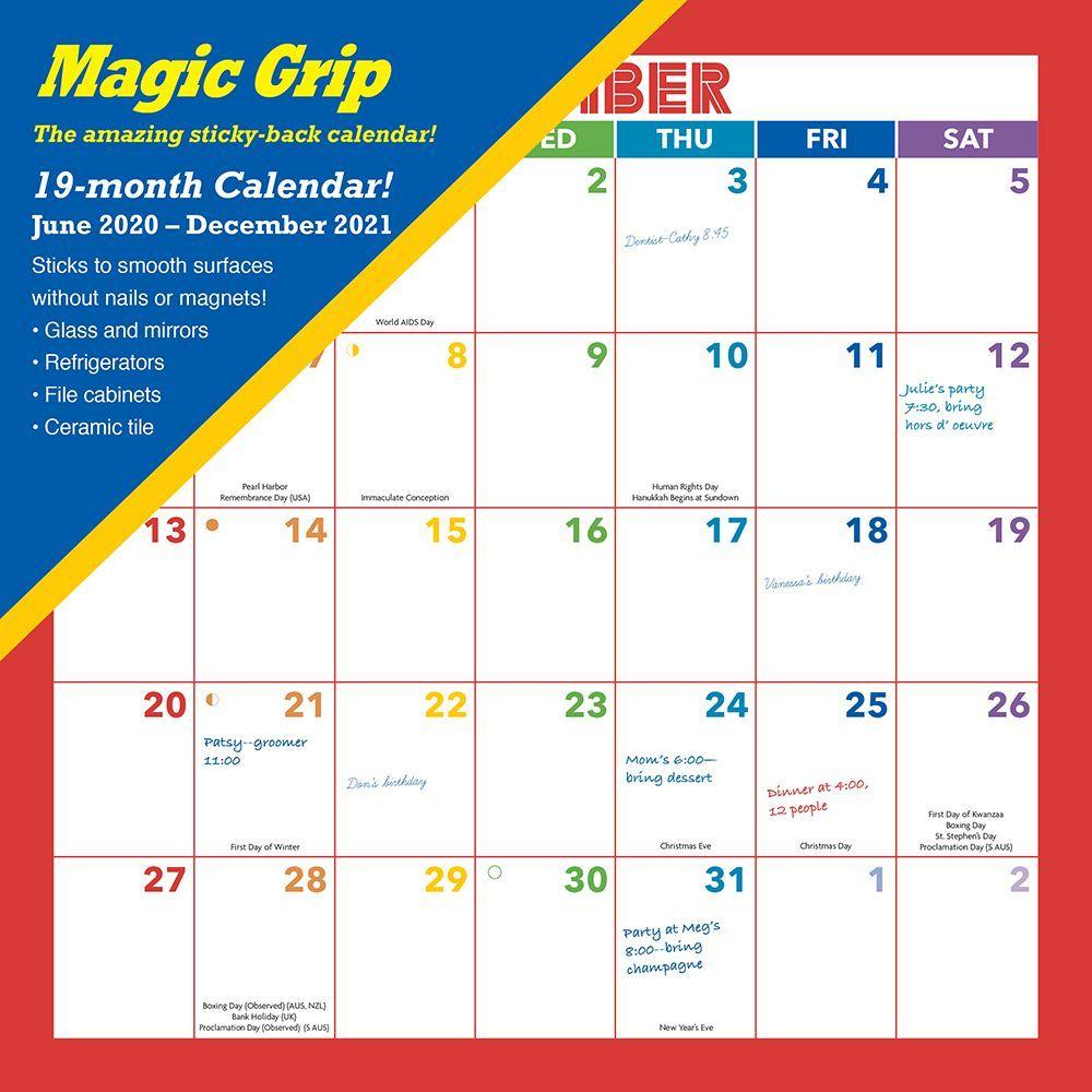 2021 Rainbow Magic Grip Wall Calendar