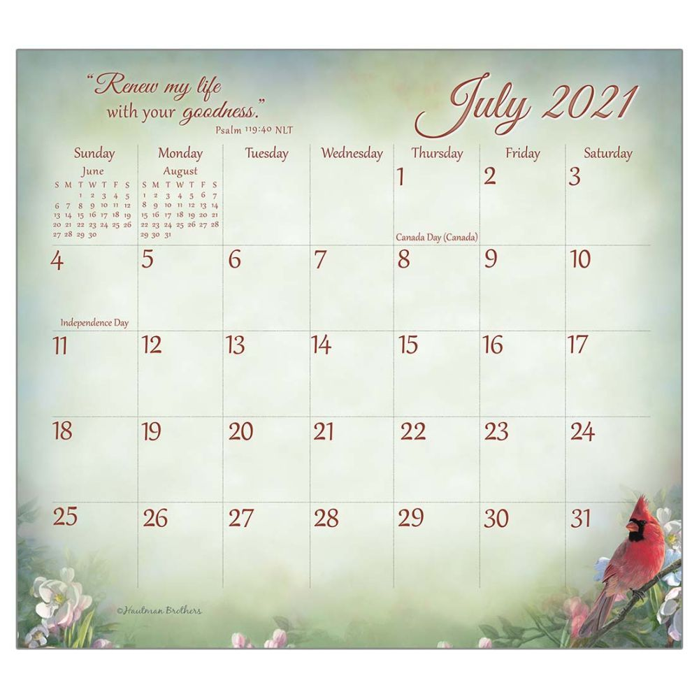 2021 Songbirds of Faith Magnetic Calendar