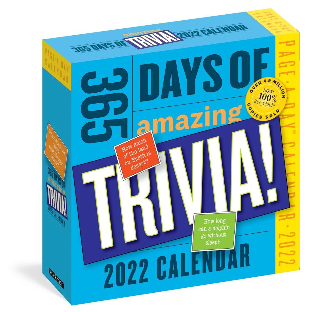 365 Days of Amazing Trivia! 2022 Page-A-Day Calendar