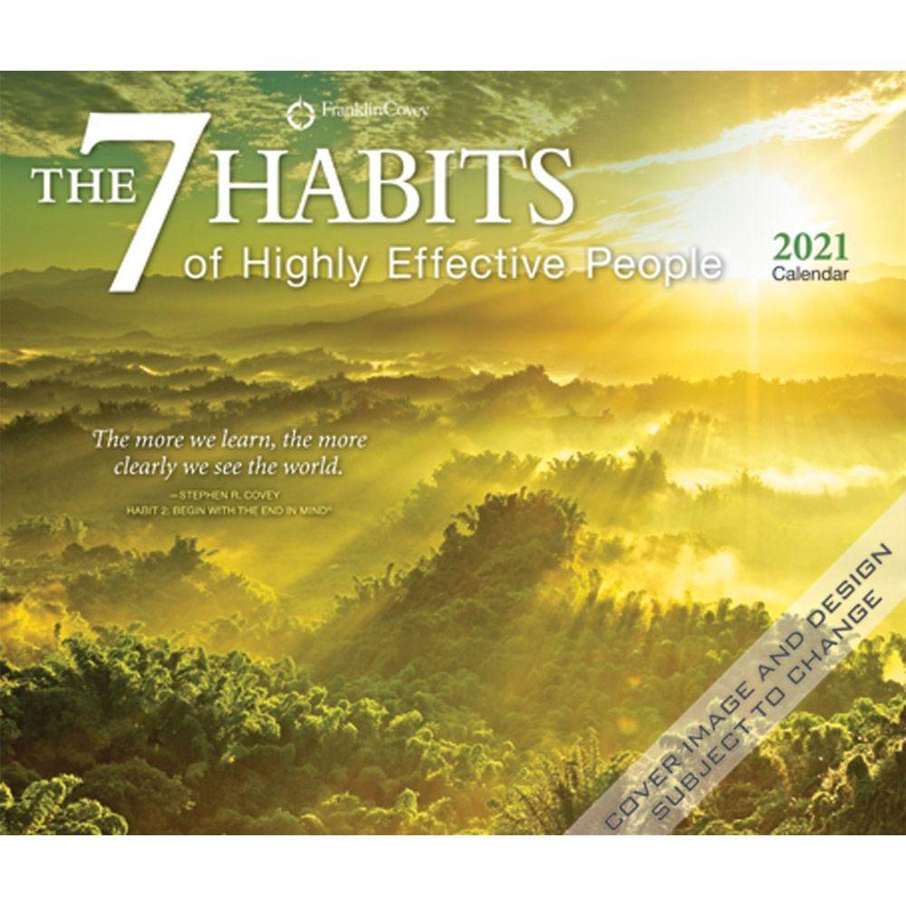 2021 7 Habits Desk Calendar