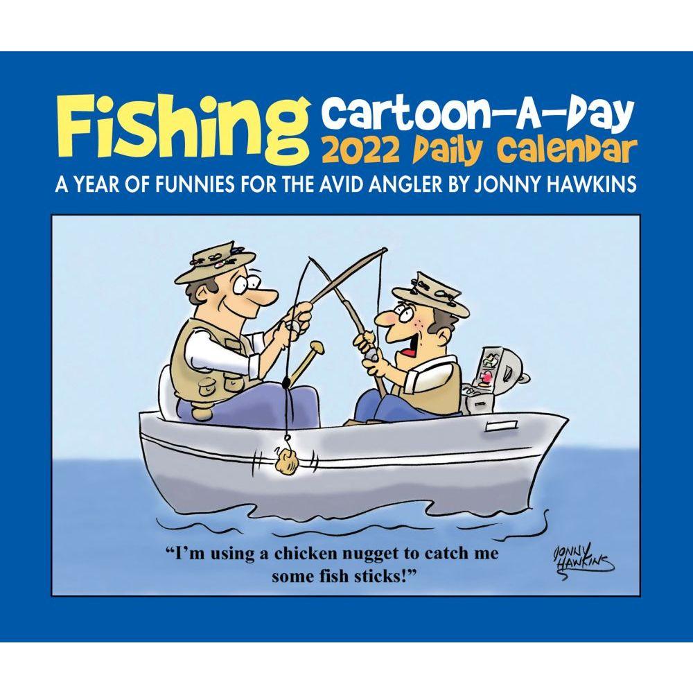 Fishing Cartoon A Day 2022 Desk Calendar