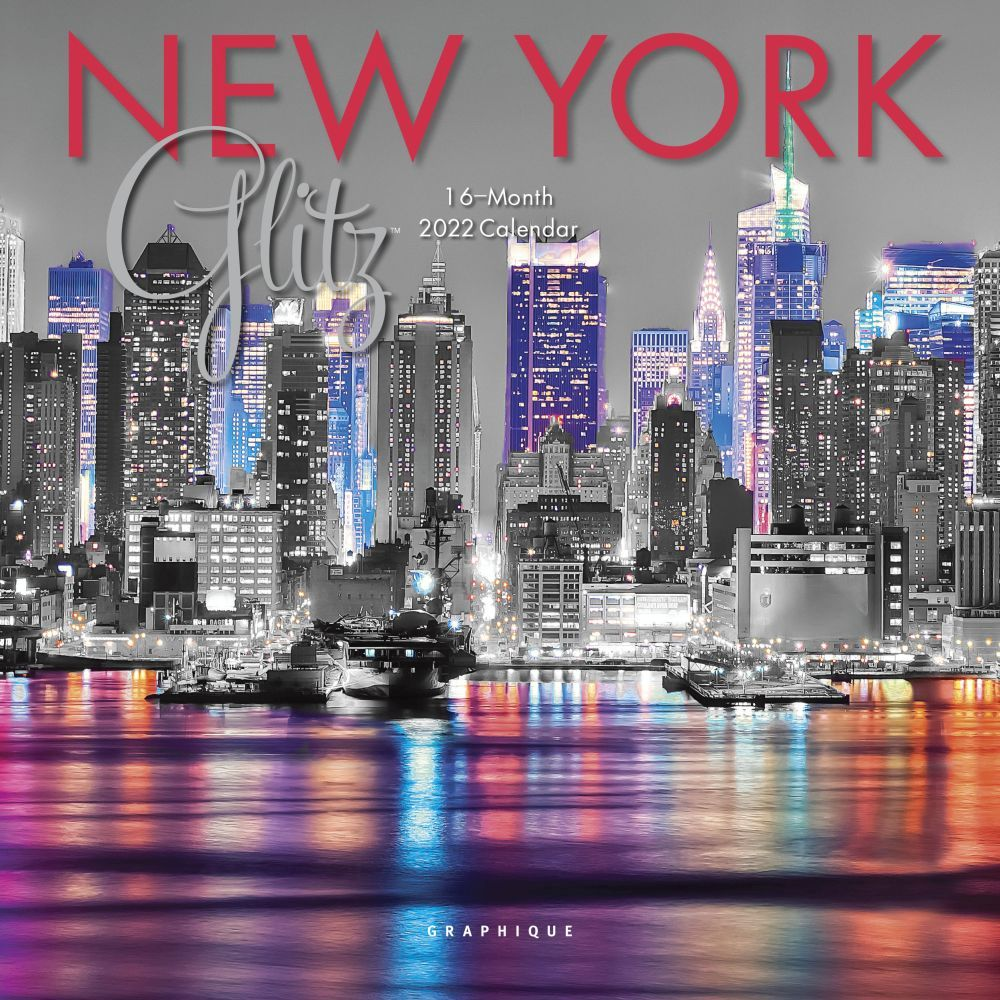 New York Glitz 2022 Mini Wall Calendar