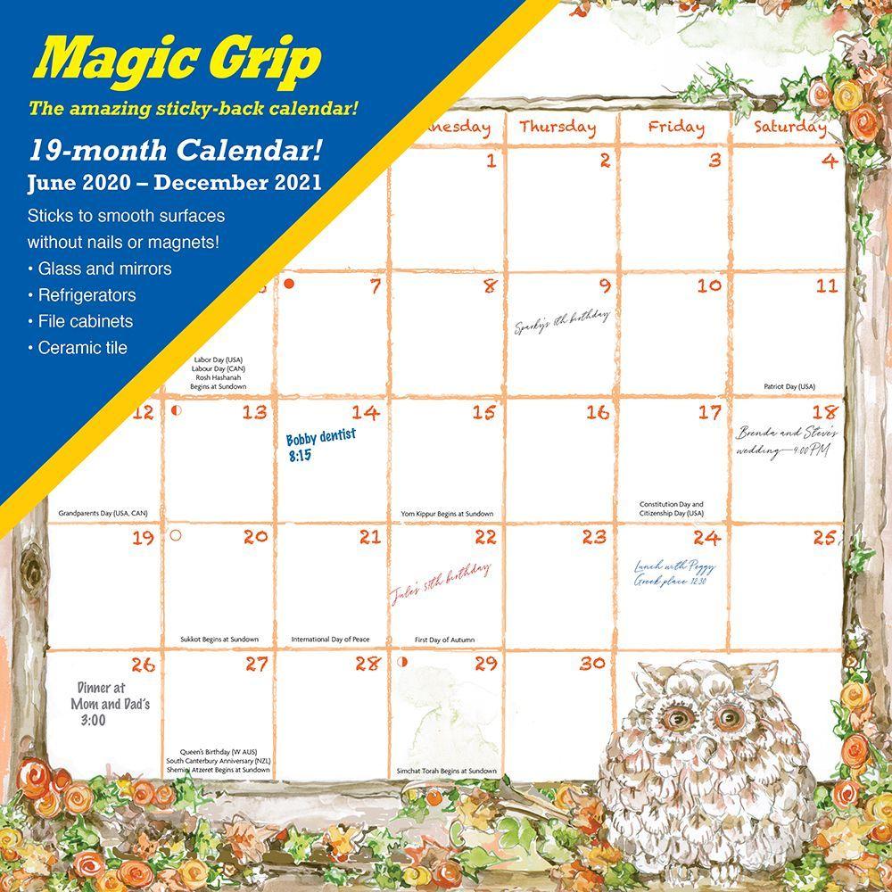 2021 Joyful Seasons Magic Grip Wall Calendar