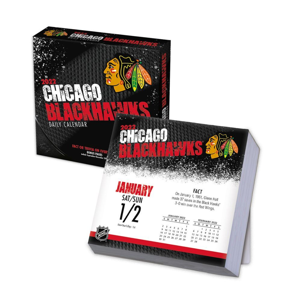 Chicago Blackhawks 2022 Desk Calendar