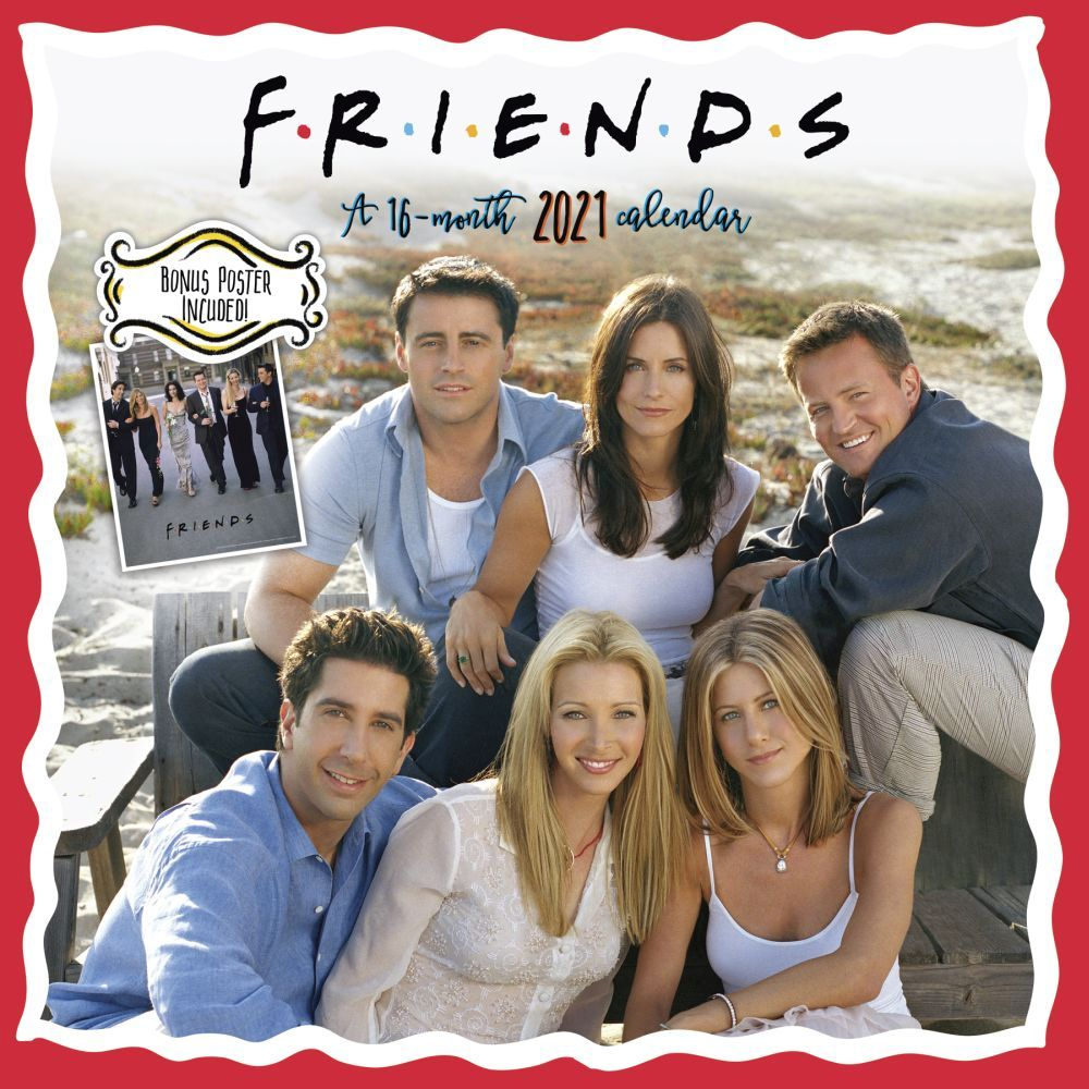 2021 Friends Exclusive Wall Calendar wPoster