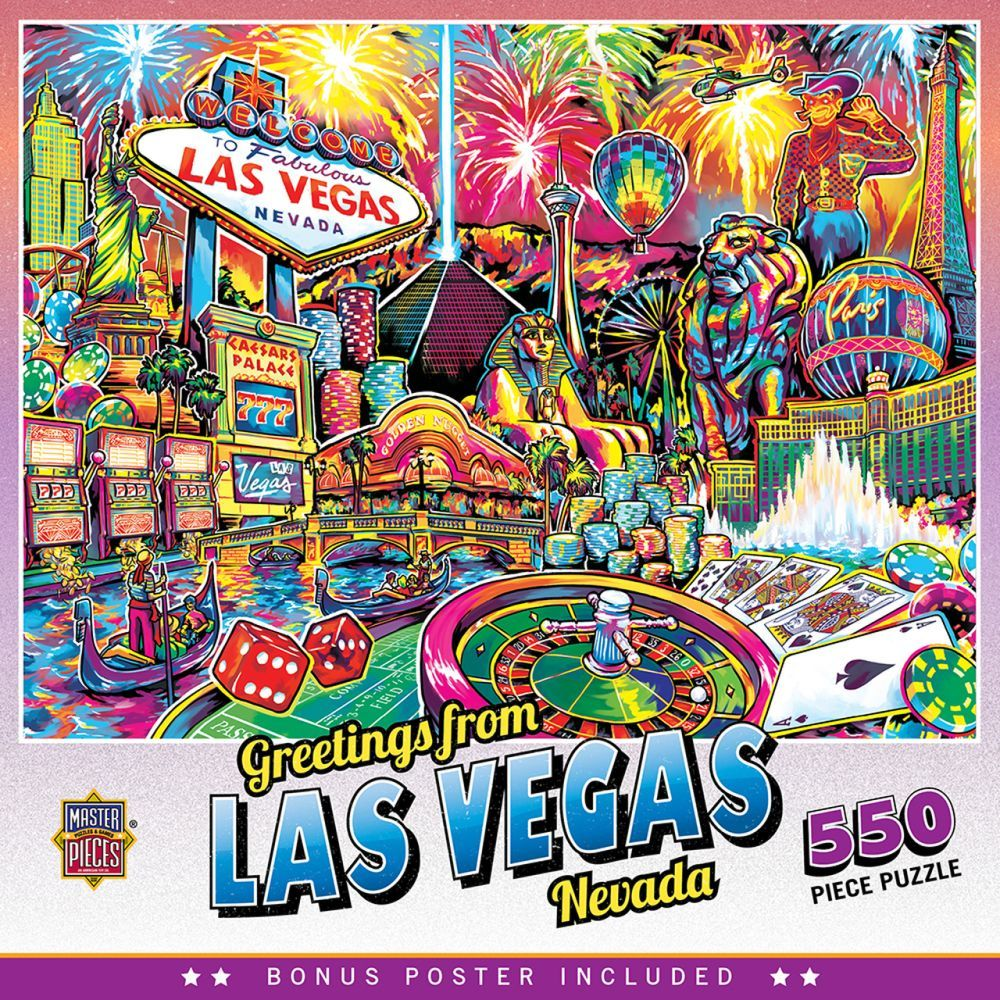 Best Greetings from Las Vegas 550pc Puzzle You Can Buy