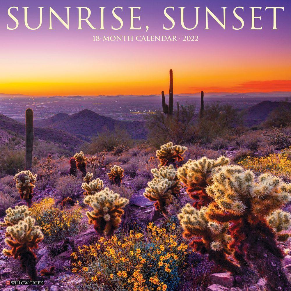 Sunrise Sunset Calendar 2022.Sunrise Sunset 2022 Wall Calendar Calendars Com