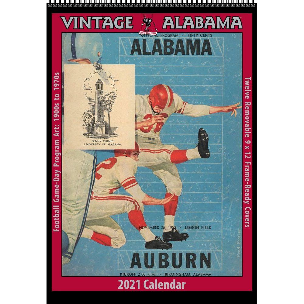 Vintage Alabama Football 2021 Poster Calendar