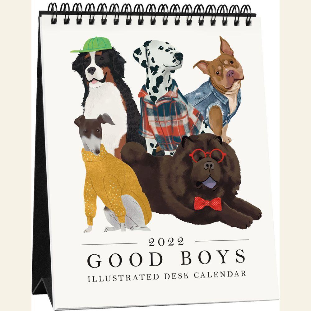 Good Boys 2022 Easel Calendar