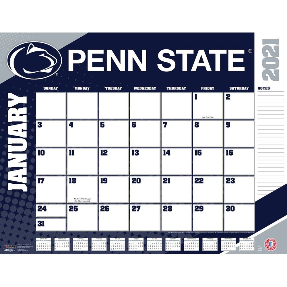 Penn State Nittany Lions 2021 Desk Pad
