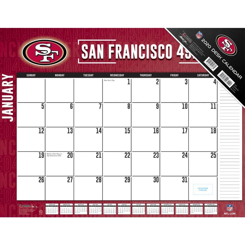 San Francisco 49ers 2021 Desk Pad