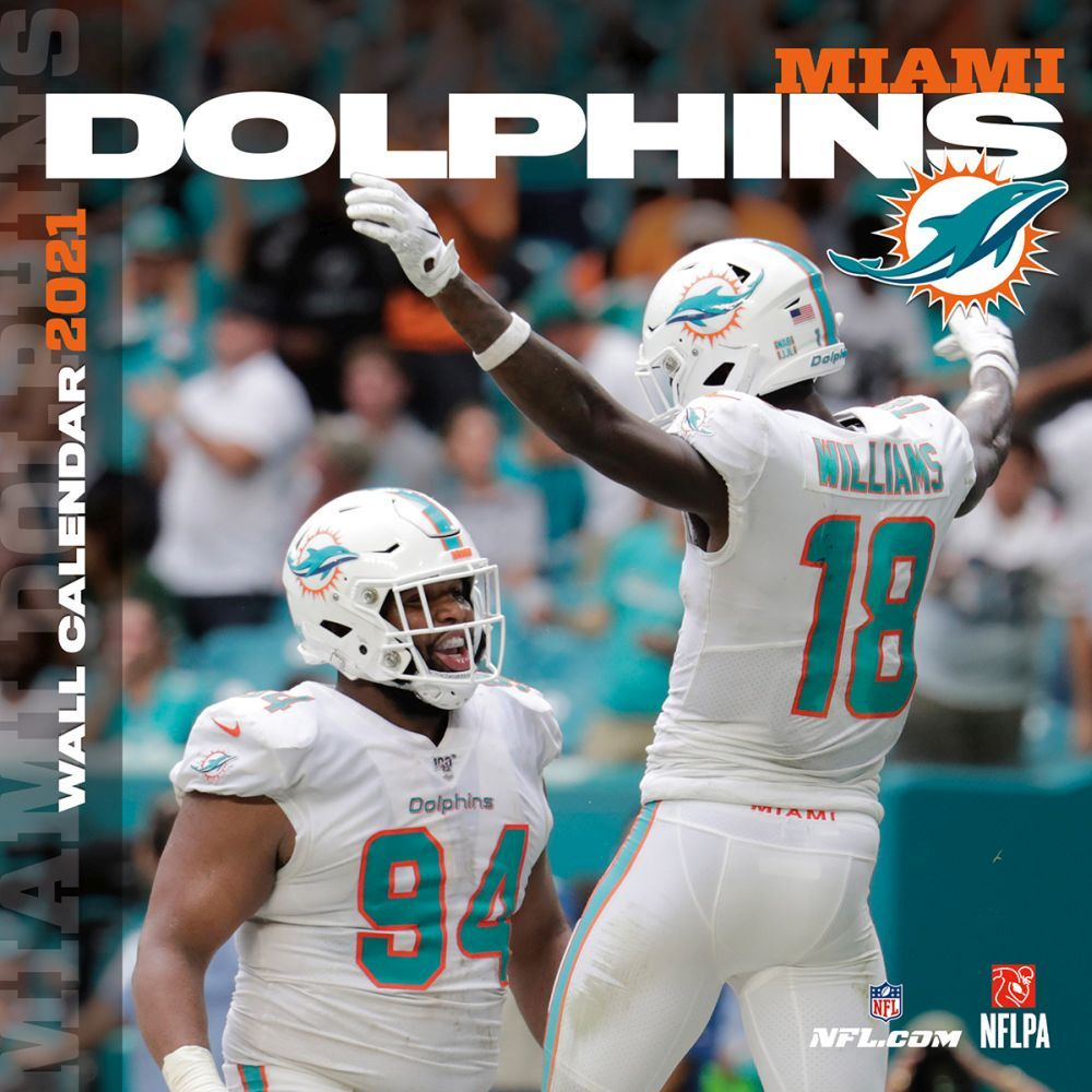 Miami Dolphins 2021 Wall Calendar