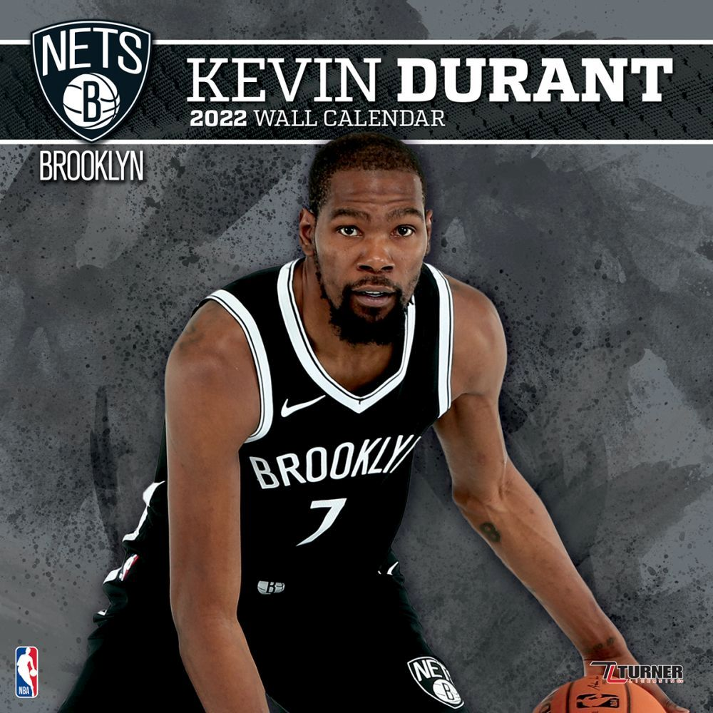 Brooklyn Nets Kevin Durant 2022 Wall Calendar