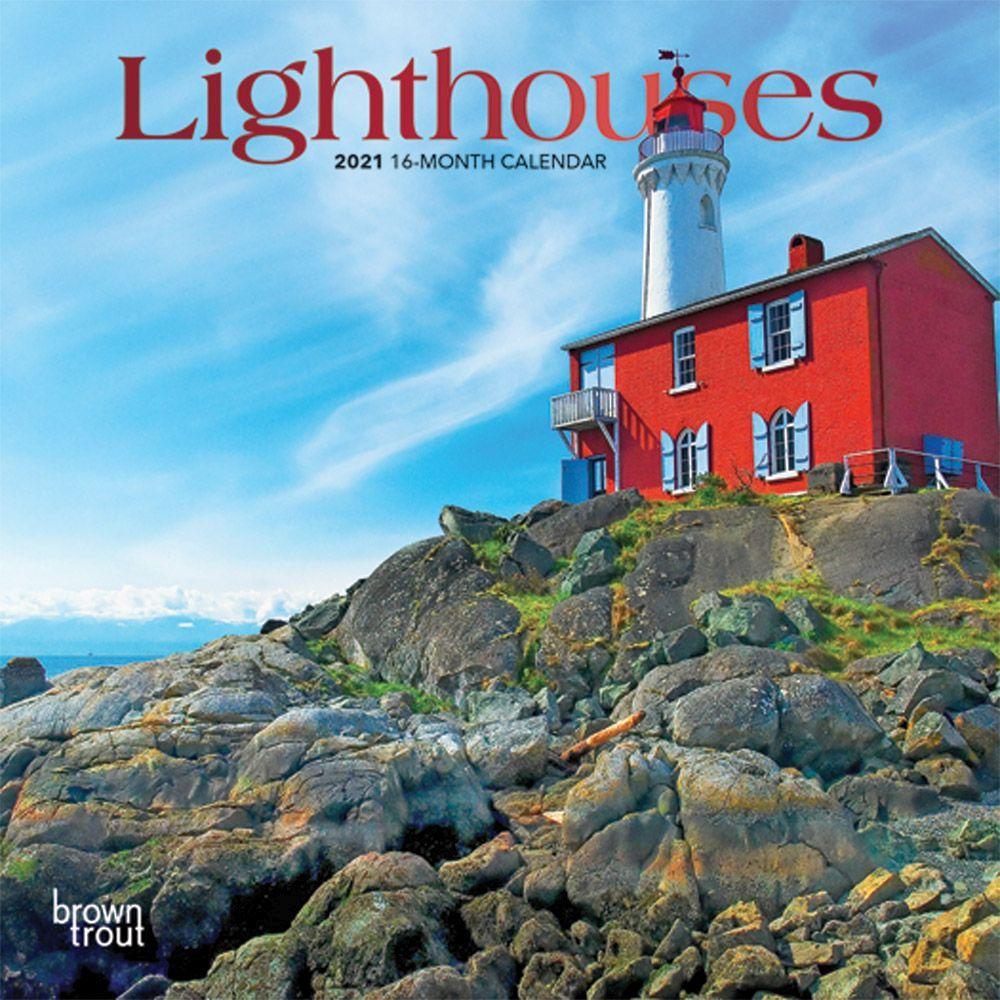2021 Lighthouses Mini Wall Calendar