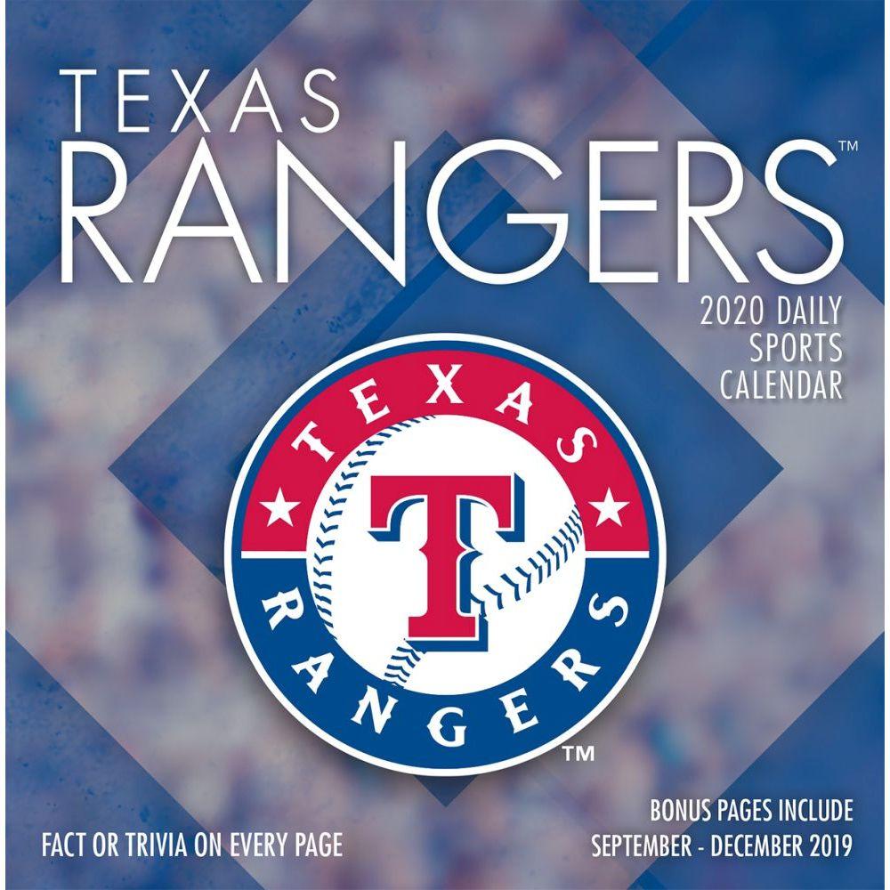 Texas Rangers 2021 Desk Calendar