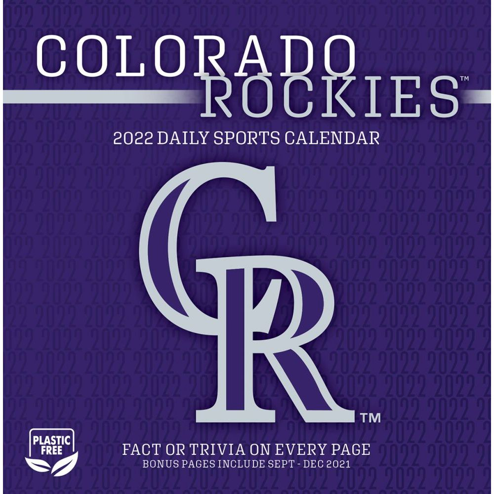 Colorado Rockies 2022 Desk Calendar