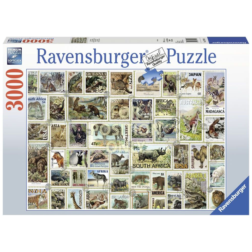 Animal-Stamps-3000pc-Puzzle-1