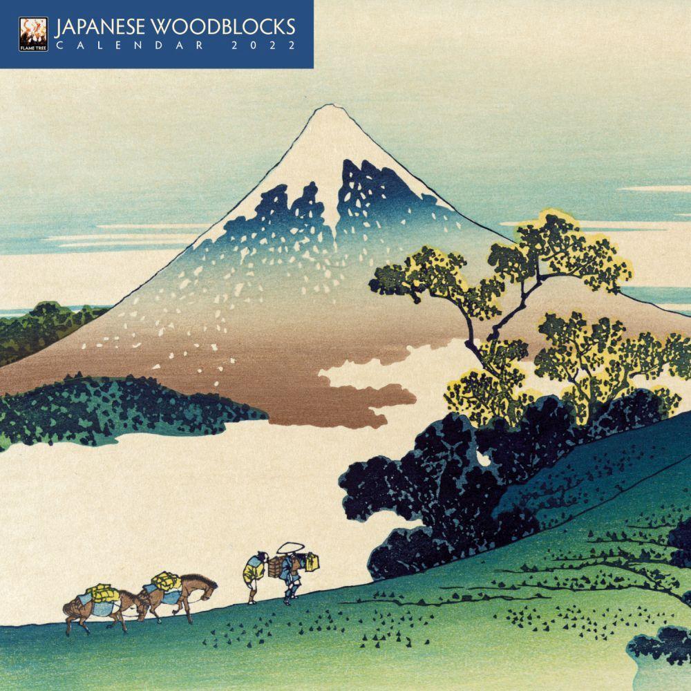 Japanese Woodblocks 2022 Mini Wall Calendar