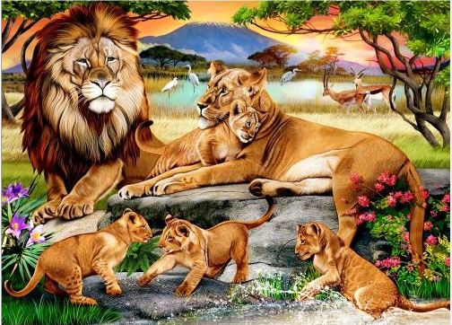 Best Lions Family in the Savannah 1000pc Puzzle You Can Buy