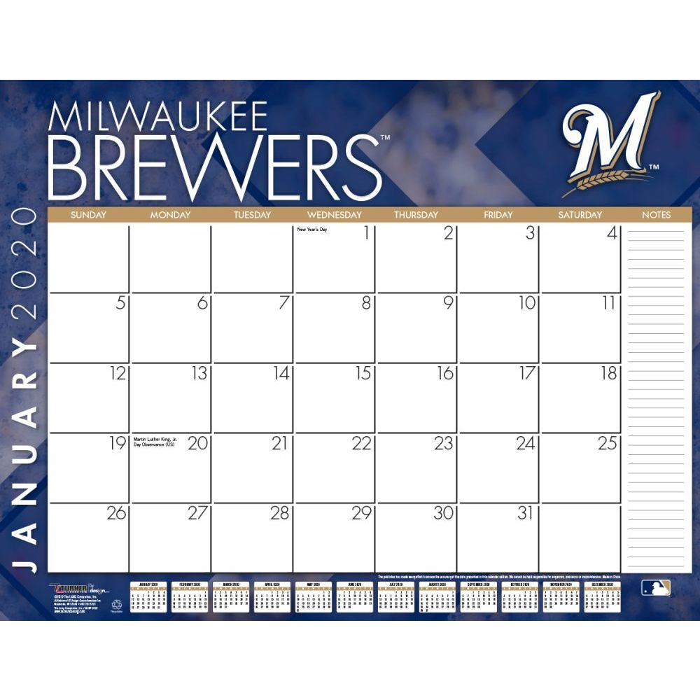 Milwaukee Brewers 2021 Desk Pad