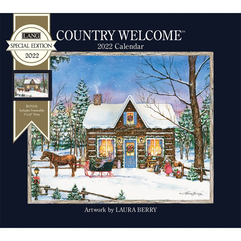 Country Welcome 2022 Special Edition Wall Calendar
