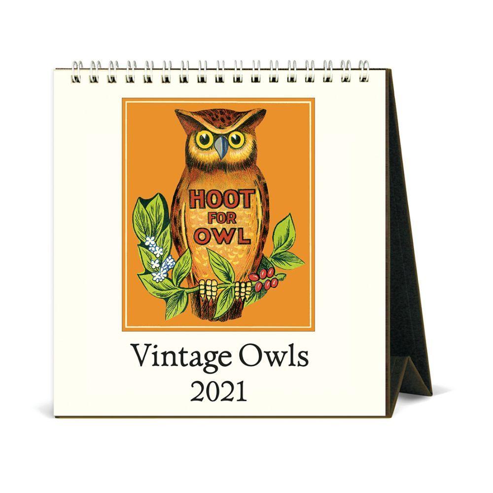 2021 Owls Desk Easel Calendar