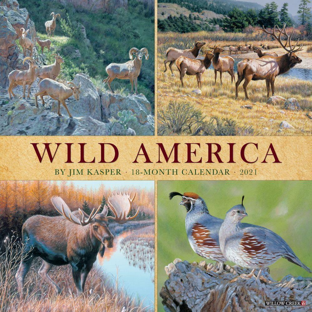 Wild America 2021 Wall Calendar