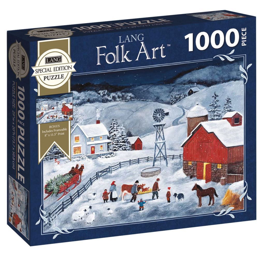Best LANG Folk Art Special Edition 1000pc Puzzle You Can Buy