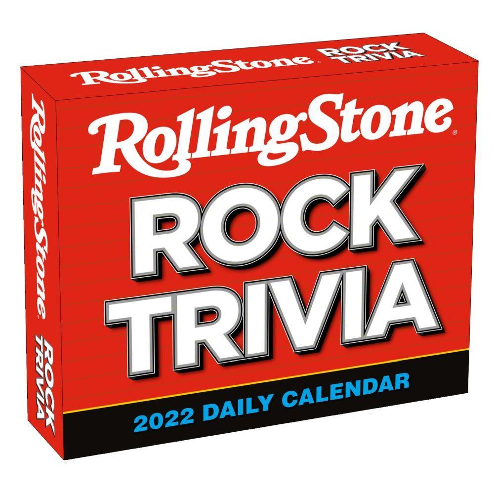 Rolling Stone Rock Trivia 2022 Desk Calenda