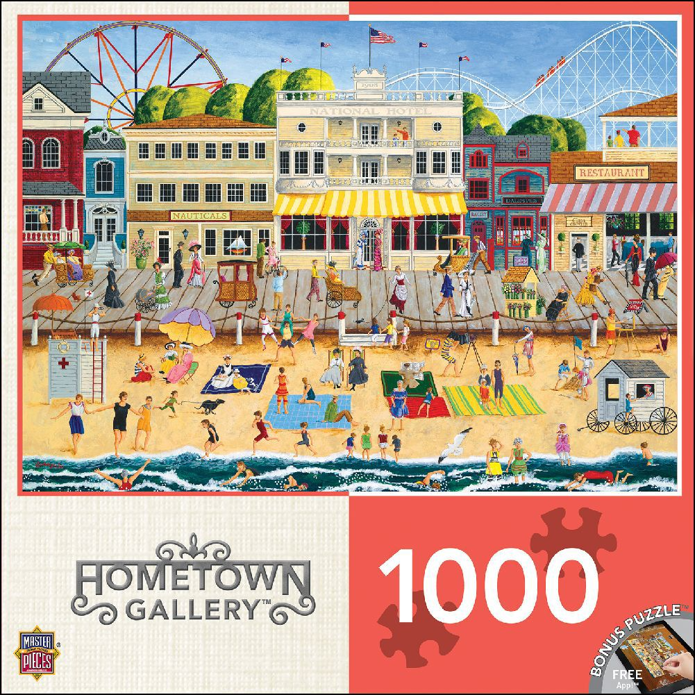 Best Hometown Gallery - On The Boardwalk 1000 Piece Puzzle You Can Buy