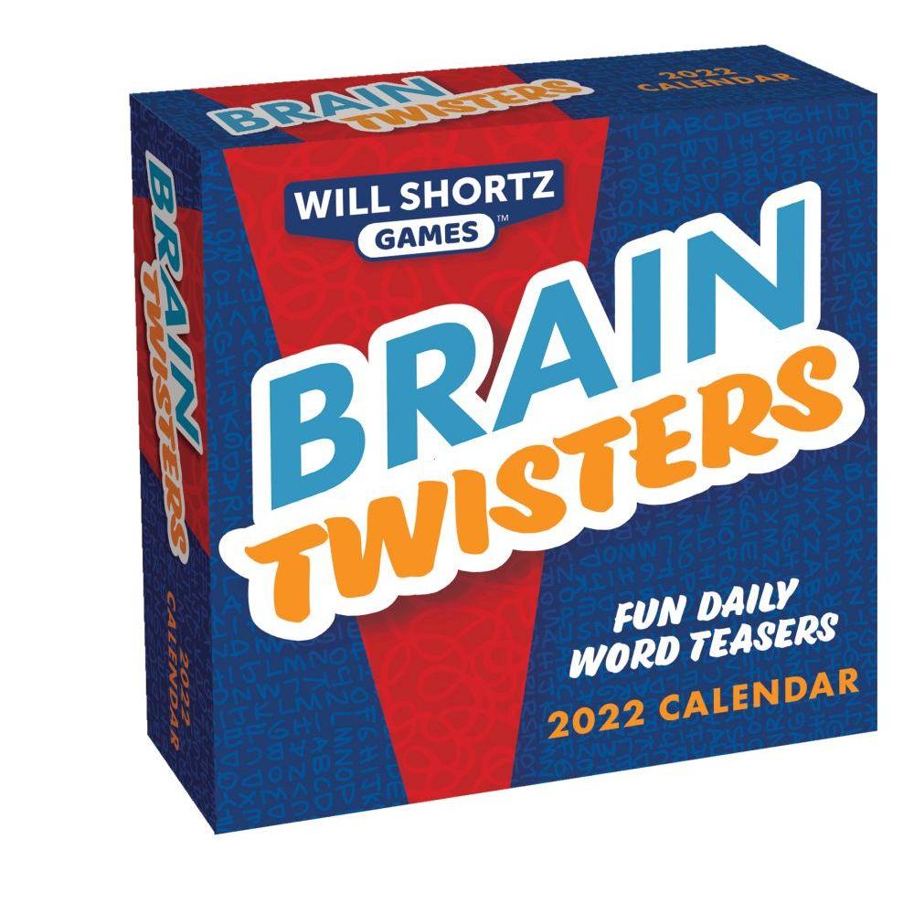 Will Shortz Games Brain Twisters 2022 Day-to-Day Desk Calenda