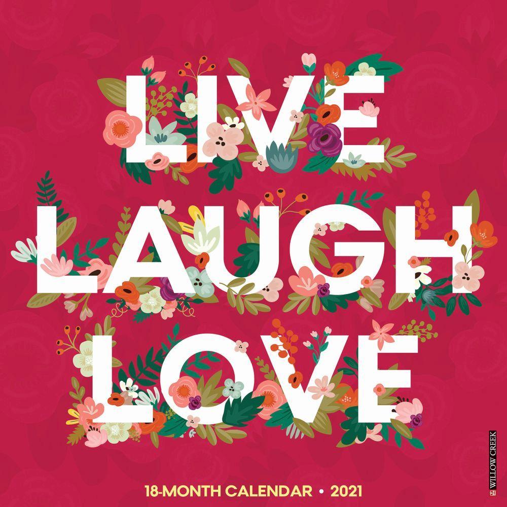 2021 Live Love Relax Wall Calendar