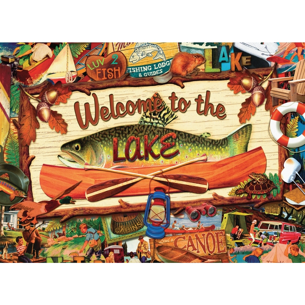 Best Welcome to the Lake 1000 Piece Puzzle You Can Buy